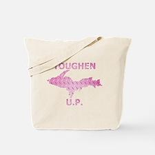 Toughen U.P. In Pink Diamond Plate Tote Bag