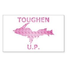 Toughen U.P. In Pink Diamond Plate Decal