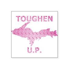 Toughen U.P. In Pink Diamond Plate Sticker