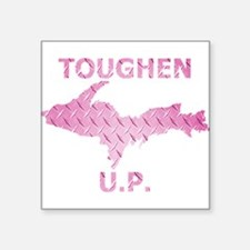 Toughen U.P. In Pink Diamond Plate Sticker