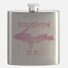 Toughen U.P. In Pink Diamond Plate Flask
