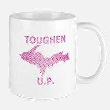 Toughen U.P. In Pink Diamond Plate Mugs