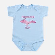 Toughen U.P. In Pink Diamond Plate Body Suit
