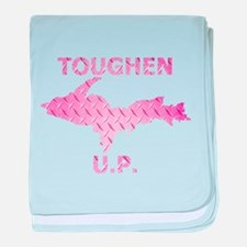 Toughen U.P. In Pink Diamond Plate baby blanket
