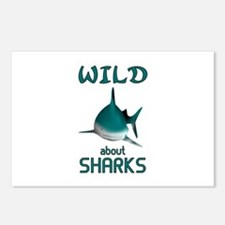 Wild About Sharks Postcards (Package of 8)