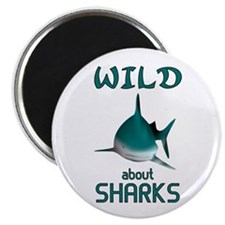 """Wild About Sharks 2.25"""" Magnet (100 pack)"""