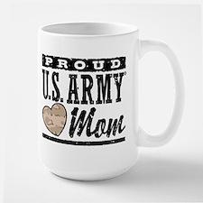 Proud U.S. Army Mom Large Mug