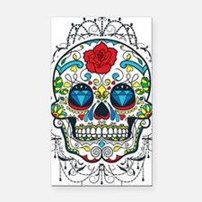 Colorful Retro Sugar Skull Re Rectangle Car Magnet