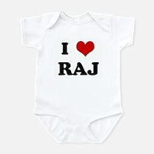 I Love RAJ Infant Bodysuit