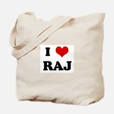 I Love RAJ Tote Bag