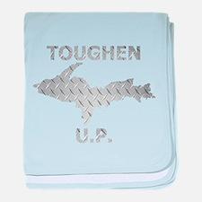 Toughen U.P. In Chrome Diamond Plate baby blanket
