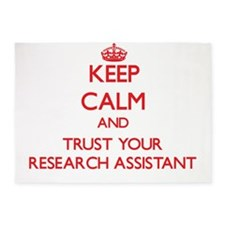 Keep Calm and trust your Research Assistant 5'x7'A