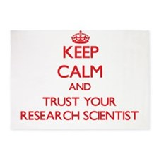 Keep Calm and trust your Research Scientist 5'x7'A
