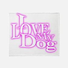 I Love My Dog Throw Blanket