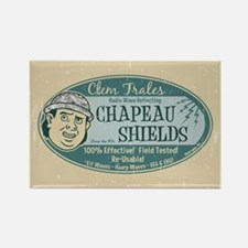 Clem Trales Chapeau Shields Rectangle Magnet
