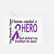 Pancreatic Cancer Heaven Greeting Cards (Pk of 20)