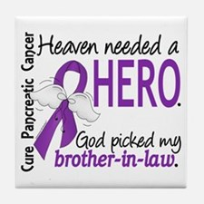 Pancreatic Cancer Heaven Needed Hero Tile Coaster