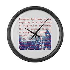 Free Speech Large Wall Clock