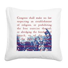 Free Speech Square Canvas Pillow