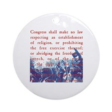Free Speech Round Ornament