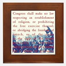 Free Speech Framed Tile