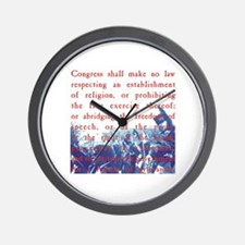 Free Speech Wall Clock