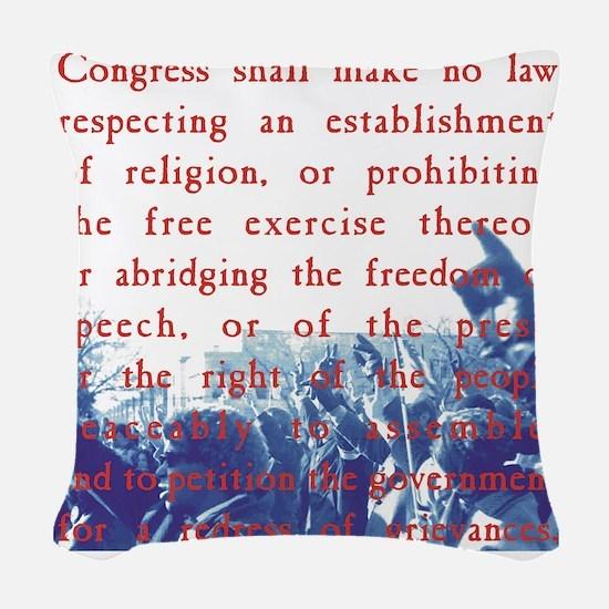 Free Speech Woven Throw Pillow