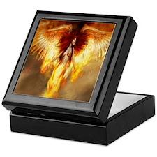 Beautiful Fire Angel Keepsake Box