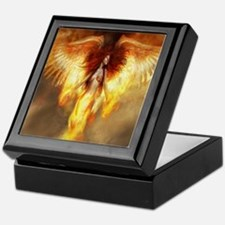 Beautiful Fire Angel Keepsake Box