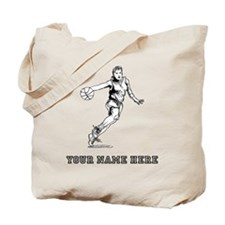 Custom Woman Basketball Player Tote Bag