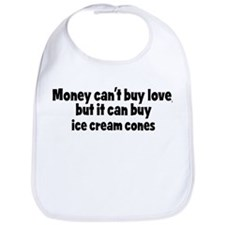 ice cream cones (money) Bib