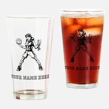 Custom Basketball Girl Drinking Glass