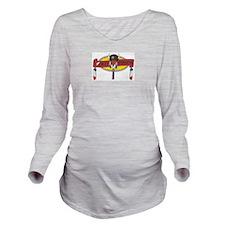 Cute Native american logo Long Sleeve Maternity T-Shirt