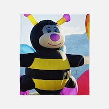 Bee Hot Air Balloon Throw Blanket