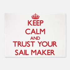 Keep Calm and trust your Sail Maker 5'x7'Area Rug