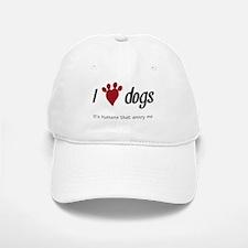 I Heart Dogs Baseball Baseball Baseball Cap
