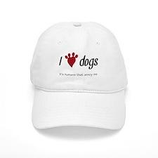 I Heart Dogs Baseball Baseball Cap