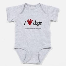 I Heart Dogs Baby Bodysuit