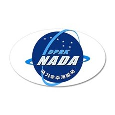 N Korea Space Agency 20x12 Oval Wall Decal
