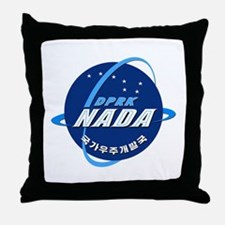 N Korea Space Agency Throw Pillow