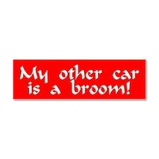 Cute Broom Car Magnet 10 x 3