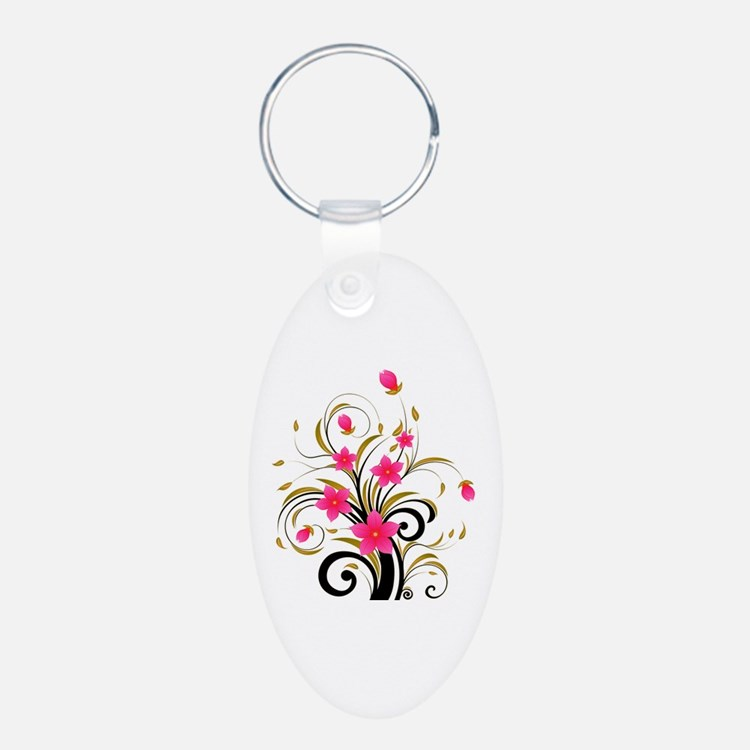 Pretty Tribal Floral Keychains