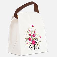 Pretty Tribal Floral Canvas Lunch Bag