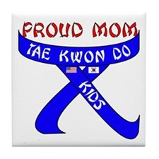 TKD Mom Kids Tile Coaster