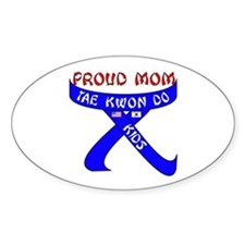 TKD Mom Kids Oval Decal