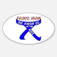 TKD Mom Kids Oval Decal