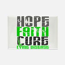 Lyme Disease HopeFaithCure1 Rectangle Magnet