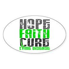 Lyme Disease HopeFaithCure1 Decal