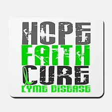 Lyme Disease HopeFaithCure1 Mousepad