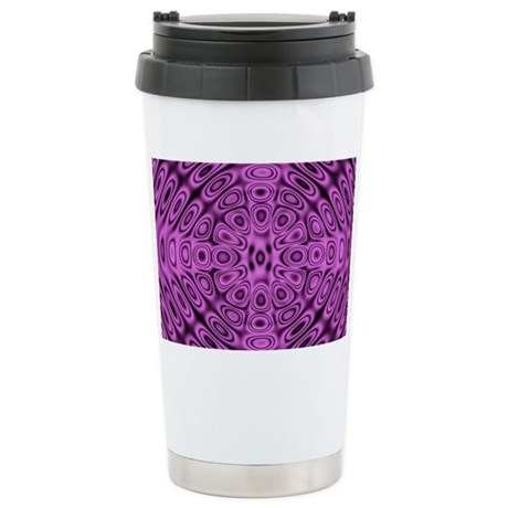 Tone on Tone Purple Dif Stainless Steel Travel Mug